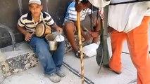 Musicos callejeros en Cuba