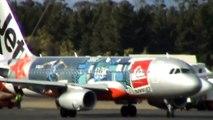 Jetstar A320 Quicksilver Livery (VH-VGZ) Landing & Takeoff - Hobart