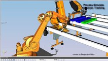 Process Simulate Commissioning Conveyor Line Tracking + Color sort