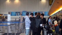 141031 B.A.P at LAX Airport heading back to Korea