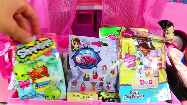 Barbie Motorhome with BLIND BAGS Shopkins Frozen LPS MLP Doc McStuffins Disney Princess Mu