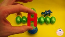 Kinder Surprise Egg Learn A Word! Spelling Play Doh Shapes! Lesson 11Teaching Letters Opening Eggs