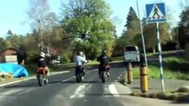Supermoto / motard street stunts