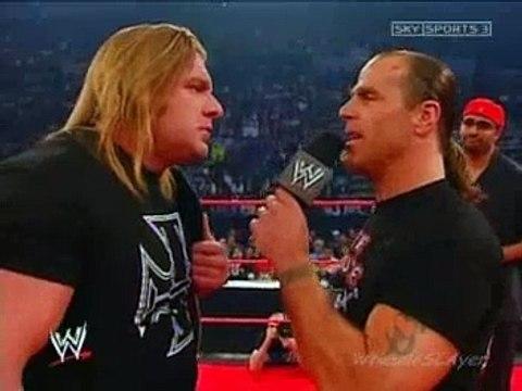 HBK HHH promo Raw 2004