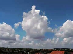 Time lapse of Cumulus Clouds