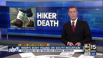 Hiker found dead on South Mountain identified