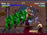 Mortal Kombat Trilogy Shao Kahn VS Liu Kang