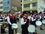 Desfile de la Banda de musica del Colegio Jose Antonio Encinas Desfile Julio 2014