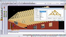 Creating AEC Roof Trusses in Caddie - AutoCAD Architecture compatible DWG CAD software.mov