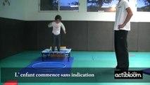 Exercices de sauts pour enfants de 3 à 5 ans, maternelle: le trampoline