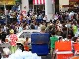 Songkran Celebration in Bangkok Thailand Silom Road 13 April 2009