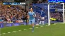 Samir Nasri Goal - Everton vs Manchester City 0-2 - 23.08.2015 HD