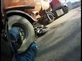 Helmet Cam Records Motorcycle Crash