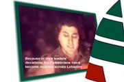"""""""Palestinians are not welcomed in Lebanon """" Bachir Gemayel Kataeb Ouwet - Lebanese Forces"""