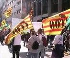 HUELGA Video, 16/10/07. Manifestación por Bcn, Generalitat