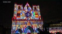 Fête des lumières Lyon 2012 - festival of lights cathedrale St Jean intégrale