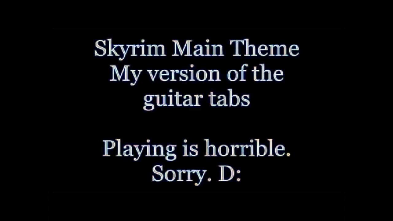 Skyrim Main Theme – Guitar Tabs