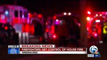 Firefighters get control of house fire in Greenacres