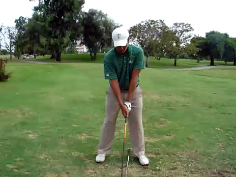 Rory Hie 's golf swing ala Tiger 3 woods  front view golf swing