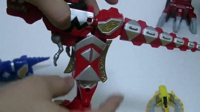 đồ chơi siêu nhân khủng long sấm sét  파워레인저 다이노썬더 썬더 메가조드 로봇 변신 장난감 Power Rangers Toys