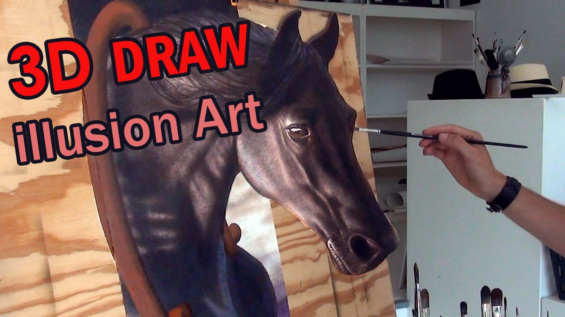 3D Painting Of A Horse Optical Illusion