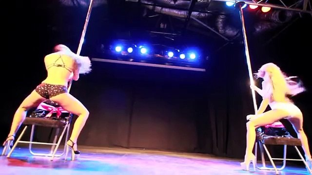 Maddie and Shimmy at Miss Pole Dance Australia NSW heats