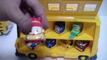 로보카폴리 스쿨버스 장난감 Robocar Poli Pororo Car Carrier Toys Робокар Поли Игрушки Мультфильмы про машинки 뽀로로