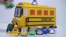 Robocar Poli Car Carrier Toys  로보카폴리 캐리어카 장난감 스쿨비 Робокар Поли Игрушки Мультфильмы про машинки