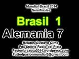 (Historico) Brasil 1 Alemania 7 (Relato Gustavo Cima) Mundial Brasil 2014 Los goles