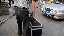 Man invents motorised suitcase