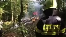 Slovakia plane crash -Parachutists survive fatal mid-air collision by jumping from aircraft