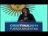 Once Noticias-Da Cristina Kirchner mensaje y agradece muestras de solidaridad