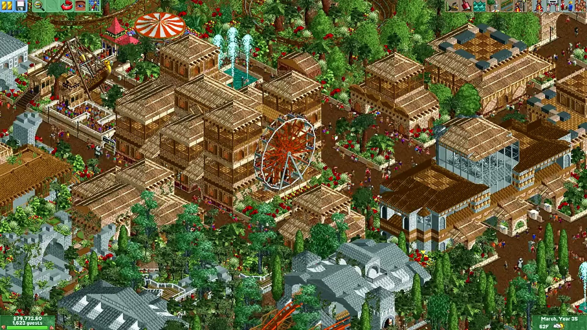 Rollercoaster Tycoon 2 - Sunset Valley (Won 1st Place in the Reddit  February Competition)