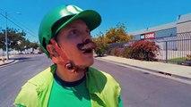 Mario Kart en vrai et en Longboard !