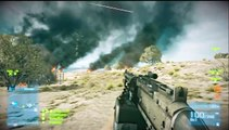 Battlefield 3 epic moments : epic jet flyby and a near crash (Jet drifting)