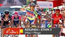 Resumen - Etapa 3 (Mijas / Málaga) - La Vuelta a España 2015