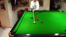 Dong's snooker homework on pot black cannon training,2012'