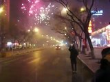 Chinese New Year's Eve fireworks in Beijing, 2010