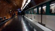Metro Paris: Mitfahrt im MP59 (Art de Metiérs - Chatelet Linie 11)