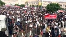 Yémen: des milliers de partisans des houthis manifestent à Sanaa
