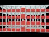 Escuela a base de módulos prefabricados de pórticos