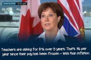 Christy Clark's talking points tested at press conference
