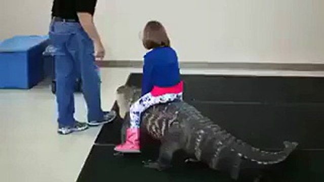 Amazing Videos: See How Little Girl Survive From Giant Crocodile