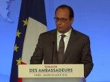 """Thalys: """"Nous devons nous préparer à d'autres assauts"""" affirme Hollande"""