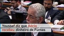 Na CPI, Youssef confirma que Aécio recebeu propina em Furnas