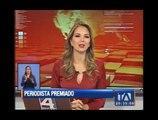 """Corresponsal de Teleamazonas gana el premio de periodismo """"Fenix nacional"""""""
