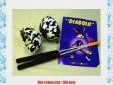 Diabolo Kombi-Set Alu-St?be mit Diabolo schwarz/wei?