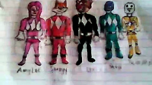 Stampy Cat and his Friends as Power Rangers.