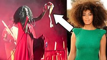 Solange Knowles Removes Her BRA During Performance