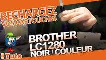 Comment recharger/utiliser une cartouche Brother LC1280 Couleur/noir